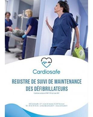 Registre de suivi de maintenance pour défibrillateur (DAE)