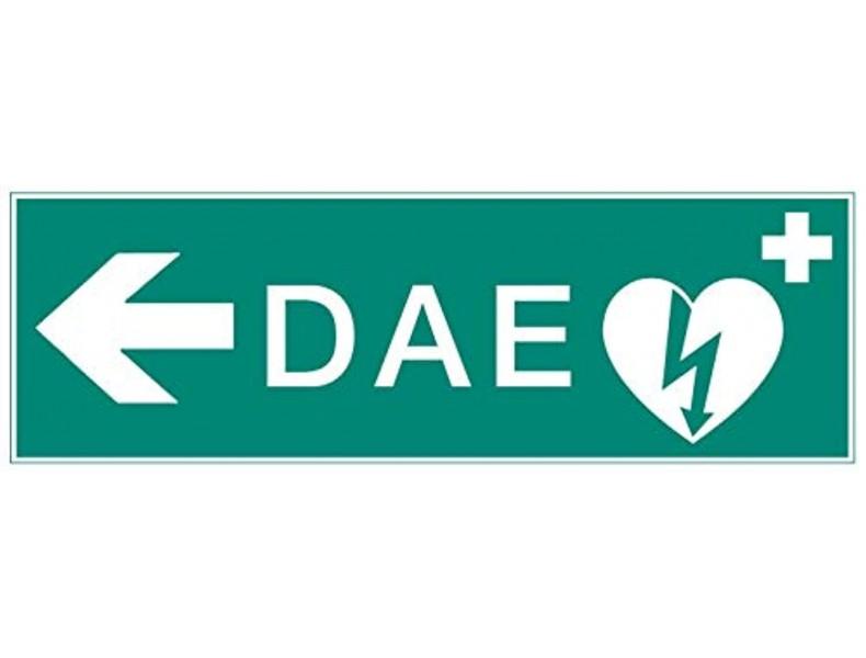 Panneau de signalétique défibrillateur DAE modèle 4-10x30cm